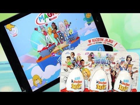 Kinder Joy | Teen Idols + Aplikacja | Bajki, gry dla dzieci i unboxing