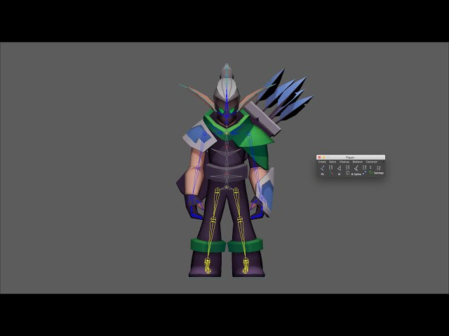 How to rig a character with Rigger (Biped Template Auto Rig)