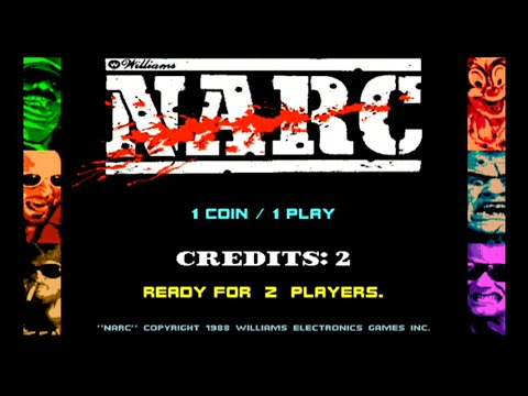 Narc - Arcade Playthrough - Williams 1988 - HD