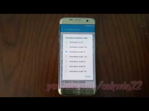 Samsung Galaxy S7 Edge : How to Change Transition animation scale (Android Marshmallow)