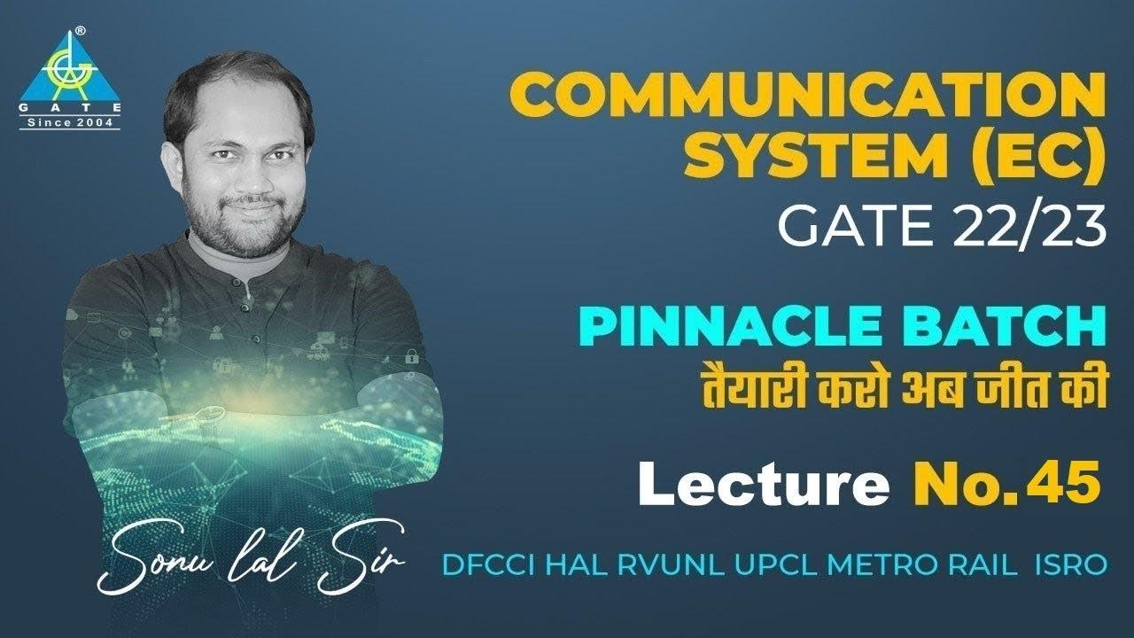 #45 Communication System (EC) By Sonu Sir | PINNACLE BATCH | DFCCI/ HAL/ RVUNL/ UPCL/ METRO RAIL