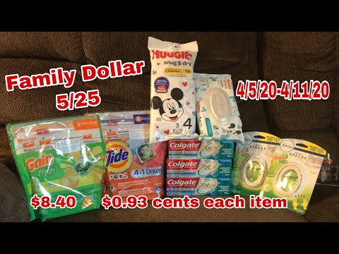 Family Dollar 5/25 🎉 $0.93 Cents Each Item 🙌