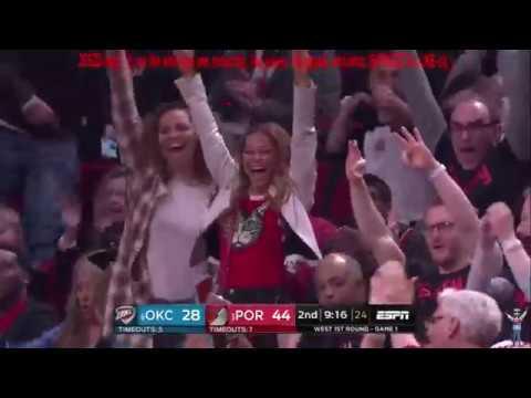 Oklahoma City Thunder vs Portland Trail Blazers – NBA Playoff 2019 – Round 1 – Game 1