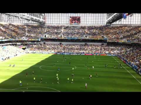 Spain vs Australia - World Cup Brazil - Warming up