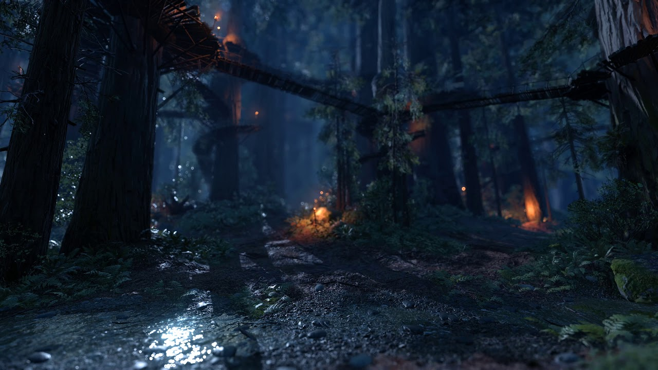 Endor Night Scene 2 Star Wars Battlefront 1 Live Wallpaper 4k