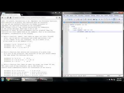 Common Lisp Tutorial - (6) ..And More List Functions