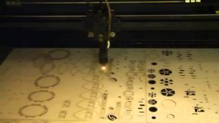 Лазерная резка и гравировка - Процесс лазерной резки картона(, 2013-06-05T06:48:35.000Z)