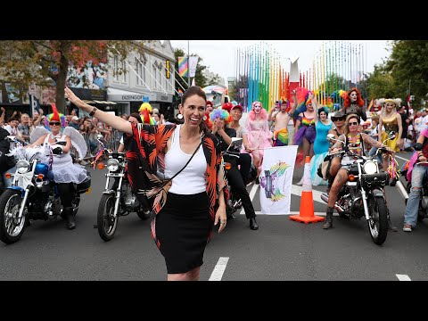 New Zealand PM Jacinda Ardern joins gay pride parade
