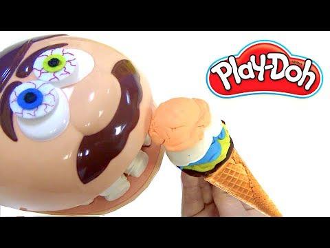 Play Doh Dişçi Aç adam dondurma yiyor  Niloya oyun hamuru dondurma yiyen aç adamı doyurabilecek