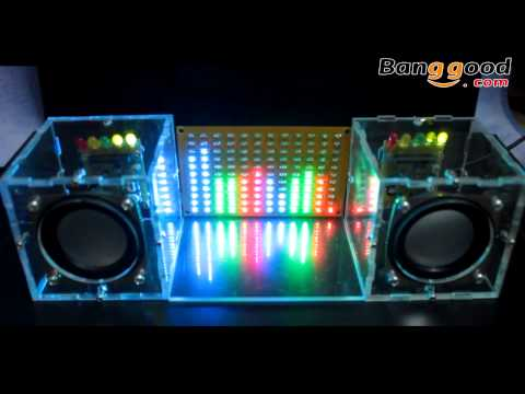 LED Music Spectrum Electronic DIY LED Flash Kit 12*11FFT -- Banggood.com