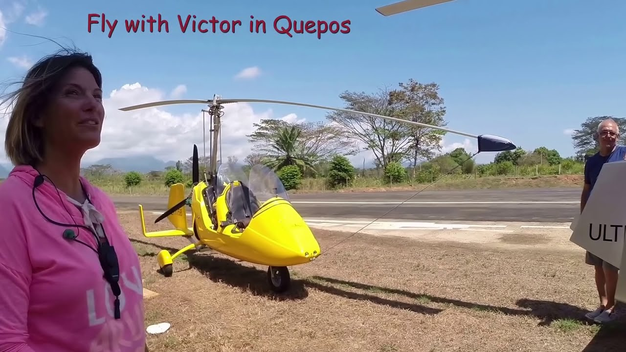 Gyrocopter Girl Flying Costa Rica Carate 2017 03  Gyrocopter Girl 08:29 HD