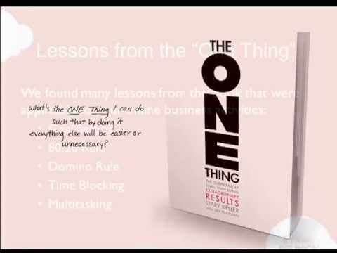 Focus Your Life and Career: The One Thing