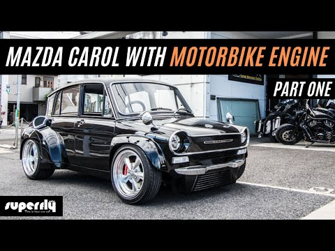 Retro Car Wide Body 1962 Mazda Carol With Harley Davidson Engine Swap