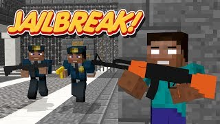 Monster School: JAILBREAK CHALLENGE - Minecraft Animation