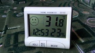 видео Купить Термометр Гигрометр Часы с датчиком