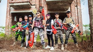 LTT Nerf War : Special Police SEAL X Warriors Nerf Guns Fight Bad Man Group Diamond