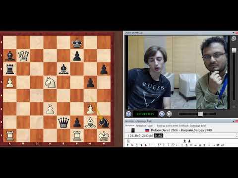 Daniil Dubov shows his brilliant victory over Sergey Karjakin