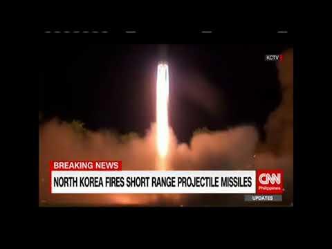 North Korea fires short range projectile missiles