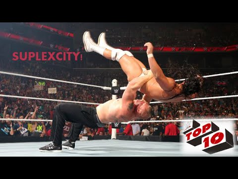 WWE Best Top 10 - Brock Lesnar Suplexcity (German Suplex) 2016
