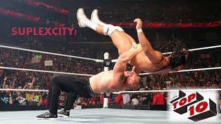WWE Best Top 10 - Brock Lesnar Suplexcity (German Suplex) 2016