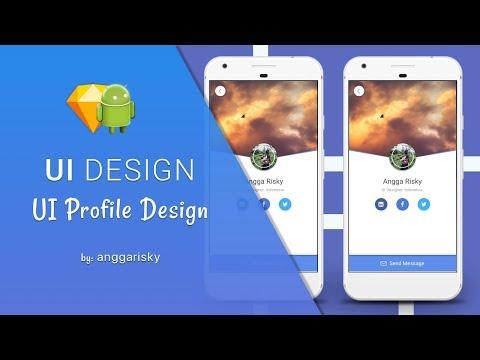 Profile UI Sketch App to Android XML Tutorial