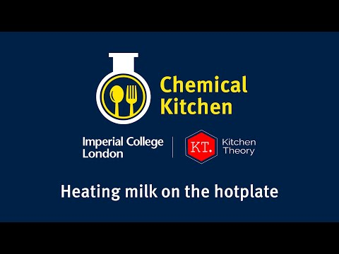 Chemical Kitchen - Heating milk on the hotplate