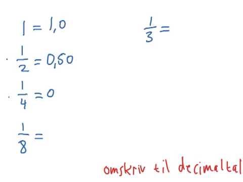 brøk til decimal