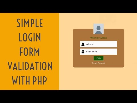 Simple Login Form Validation With Php