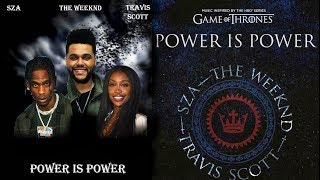 SZA, The Weeknd, Travis Scott - Power Is Power [Lyrics]