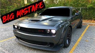 THIS IS WHY TINTING YOUR WINDSHIELD IS A BIG MISTAKE! Widebody Hellcat Challenger