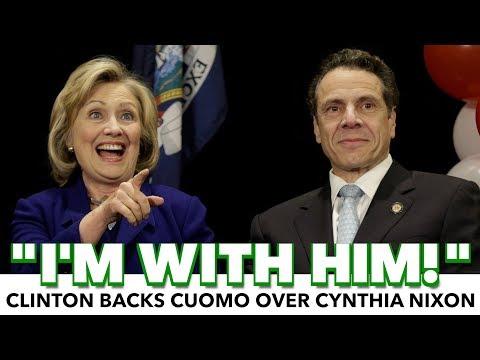 "Hillary Clinton: ""I'm With Him!"" Backs Andrew Cuomo Over Cynthia Nixon"