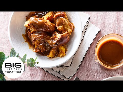 Simplest Bread Pudding With Salted Brown Sugar Sauce   Big Little Recipes