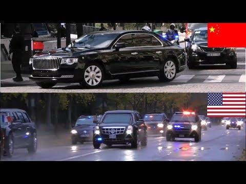 Xi Jinping Vs Donald Trump Presidential Motorcade Comparison