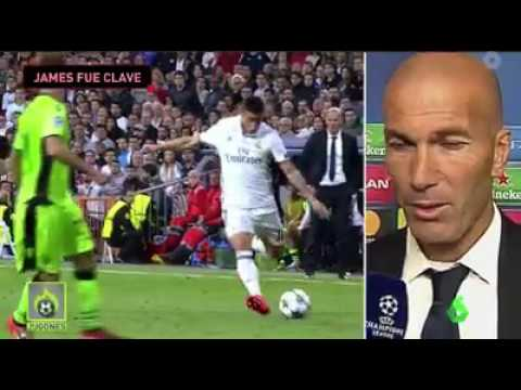 James Rodriguez - Real Madrid vs Sporting 2-1 Pase Gol
