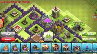 Village hôtel de ville niveau 8 défensive! (Clash of clans )