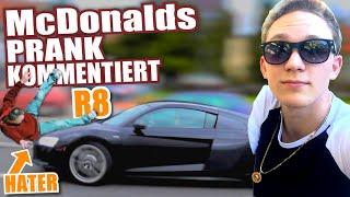 HATER MIT R8 ÜBERFAHREN - McDonalds PRANK FAIL kommentiert - McDonalds Roulette