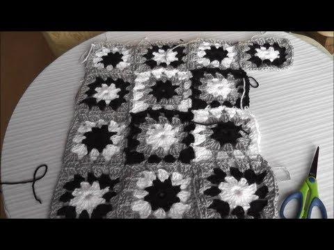Patchwork Häkelkissen - Mehrfarbiges Muster, Quadrat häkeln Teil 1 ...
