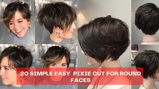 20 Stunning Pixie cut for round faces 2020