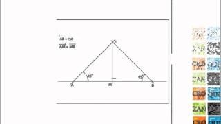División de segmentos con la escuadra de 45°