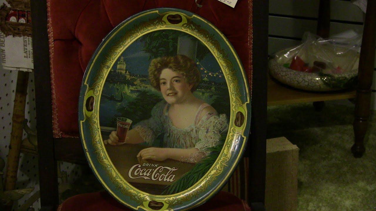 1909 Coca Cola Tray antique Rare