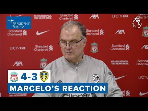 Marcelo Bielsa reaction | Liverpool 4-3 Leeds United | Premier League