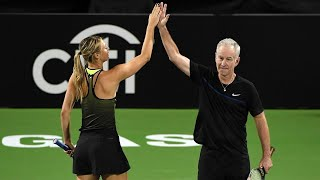 Sharapova/McEnroe vs Navratilova/Roddick ● 2016 Las Vegas Highlights