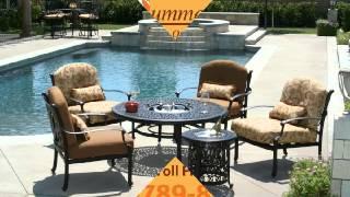 Patio designs 877-789-8763 66614 patio decor sunbrella outdoor furniture cast aluminum patio table