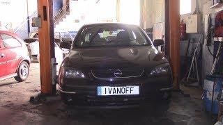 Ремонт автомобиля Opel Astra G, почемуто  скривилось колесо