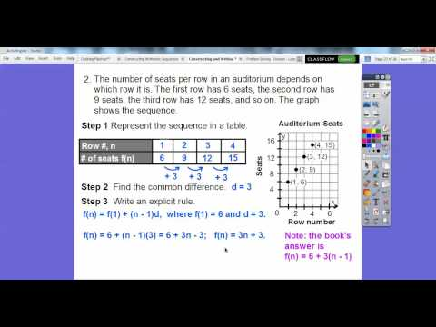 Constructing And Writing Arithmetic Sequences - Lesson 4.2 (Part 2)