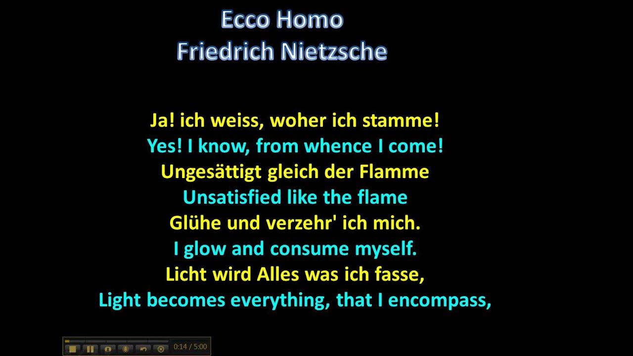 Ecce Homo Friedrich Nietzsche Wwwgermanforspaldingorg