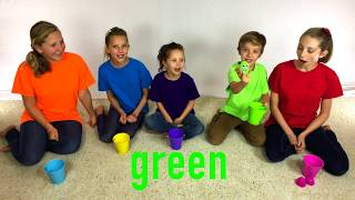 Learn English Colors! Surprise Eggs and Little Cute Toys with Sign Post Kids!
