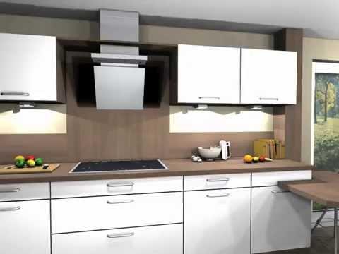3D Küchenmovie Schüller Küche Modell Nova K100S weiß