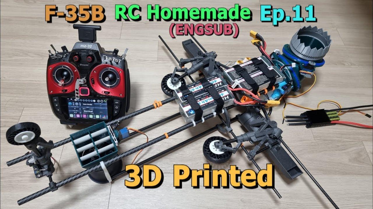 Download 구입한 변속기와 배터리는 얼마일까? 수직이륙팬에 추력 편향 설치, 한국인이 만드는 스텔스 전투기 RC F35B 11화 / F35 VTOL RCplane Homemade Ep.11