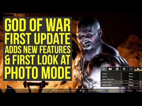 God of War Update 1.10 OUT NOW All the Info + First Photo Mode Gameplay (God of War 4 Update 1.10)